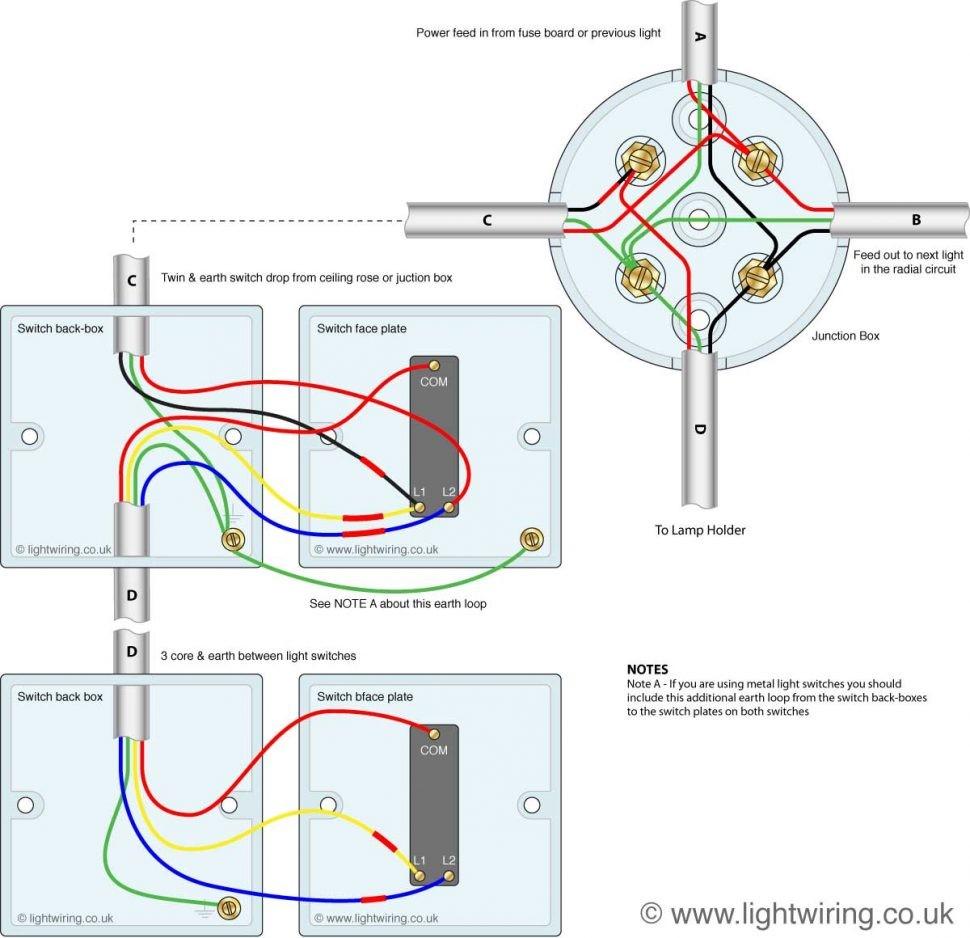 Lighting Circuit Single Light Switch Wiring 2 Way Diagram Electrical 970—938 Three Diagrams