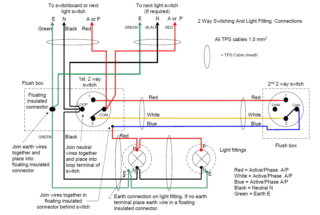 staircase wiring circuit diagram 2 way switch wiring librarydo staircase wiring circuit with 3 different methods electrical brilliant 2 way switch diagram