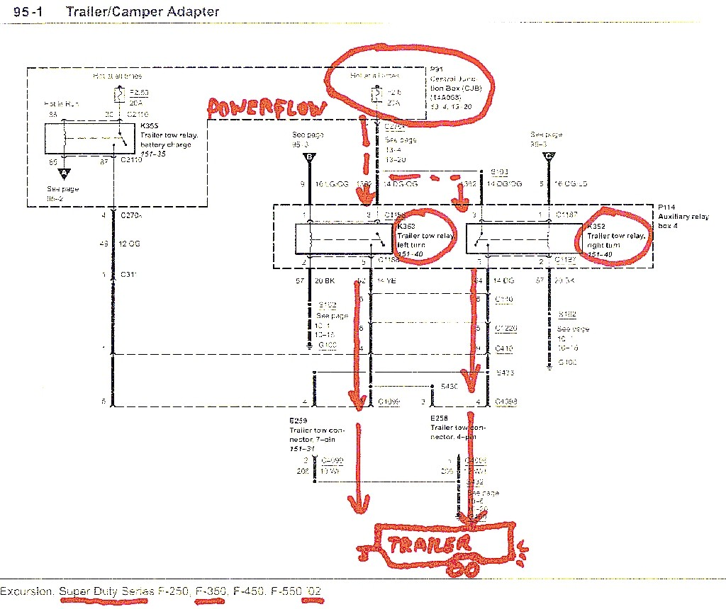 01 F250 Trailer Wiring Diagram Diy Wiring Diagrams \u2022 2008 F550 Wiring-Diagram  2001 Ford Excursion Trailer Wiring Diagram