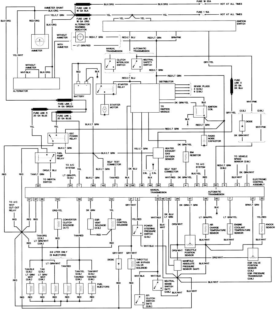 Ford Ranger 2 9 Wiring Diagram 1998 Page 14