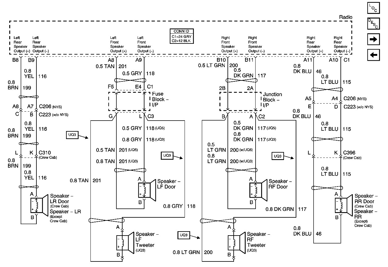 wrg 2199 2002 gmc yukon stereo wiring diagram. Black Bedroom Furniture Sets. Home Design Ideas