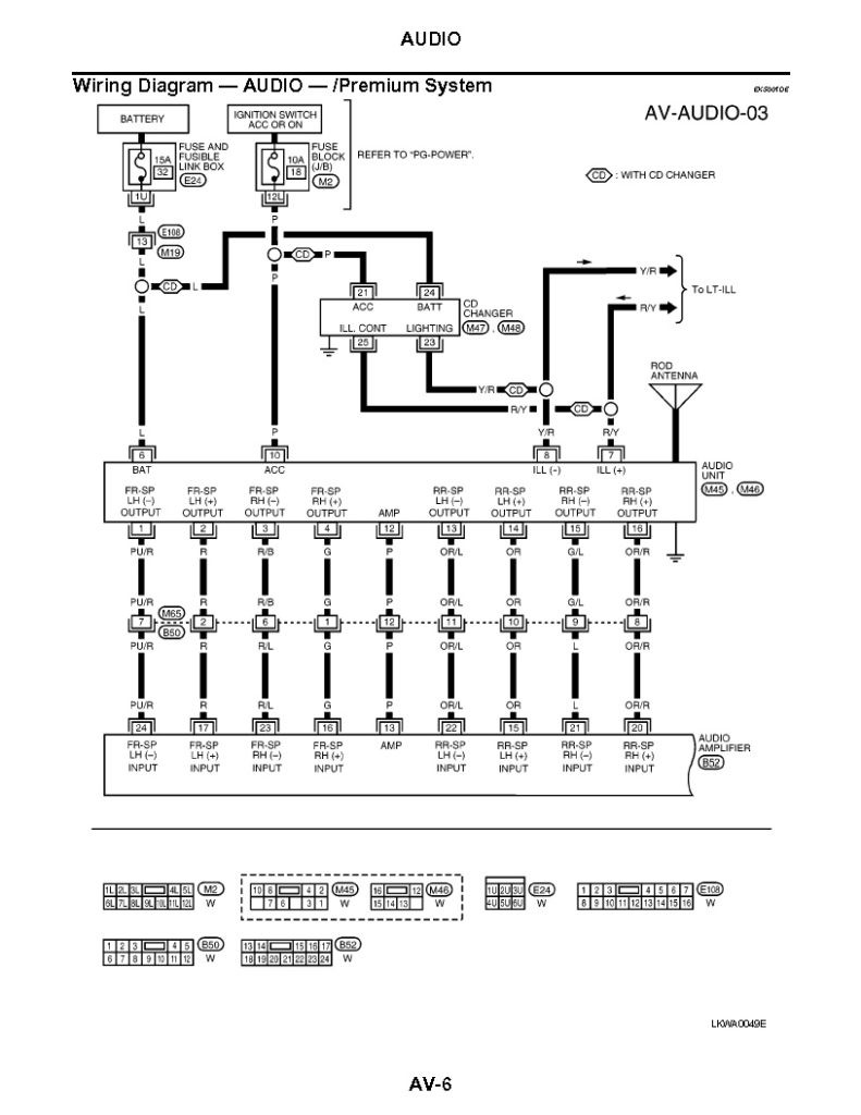 2003 Nissan Maxima Bose Audio Wiring Diagram 2002 Sentra Radio Within For  2004 791x1024 With
