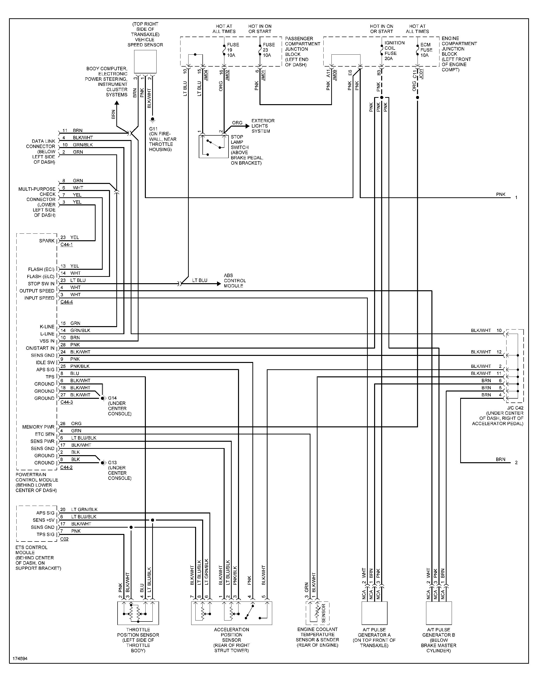 2003 Hyundai Elantra Stereo Wiring Diagram from mainetreasurechest.com