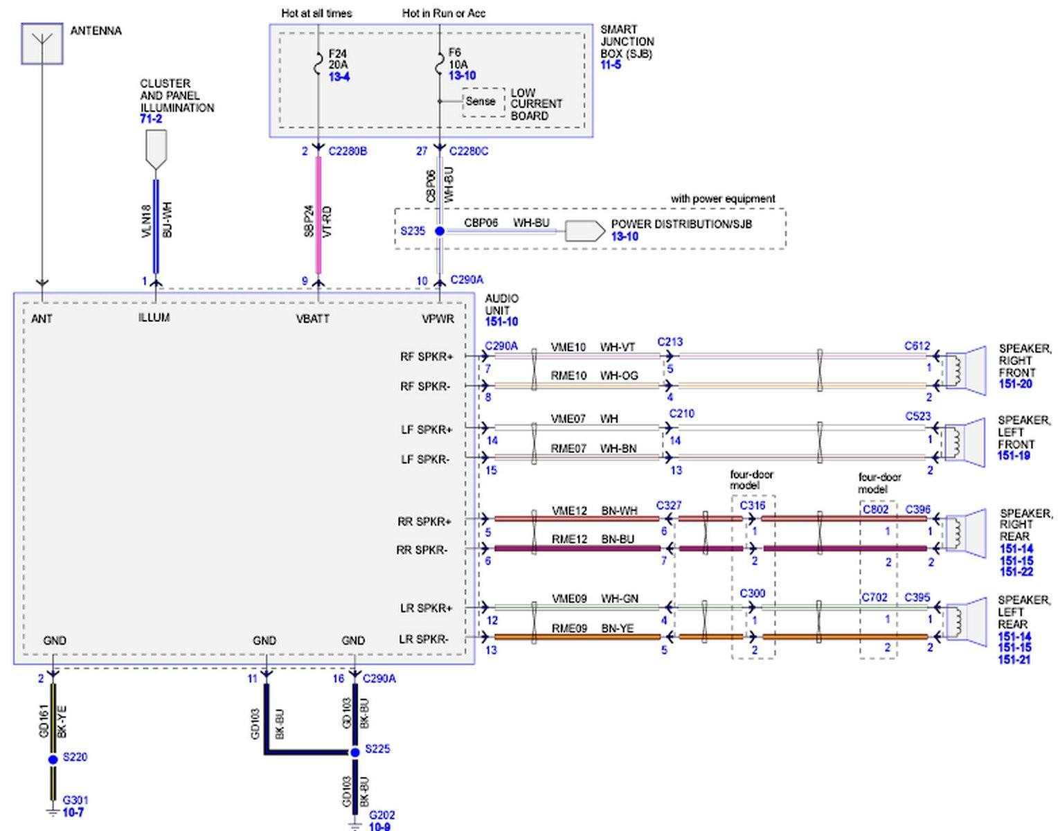 2005 ford Explorer Radio Wiring Diagram | Wiring Diagram Image