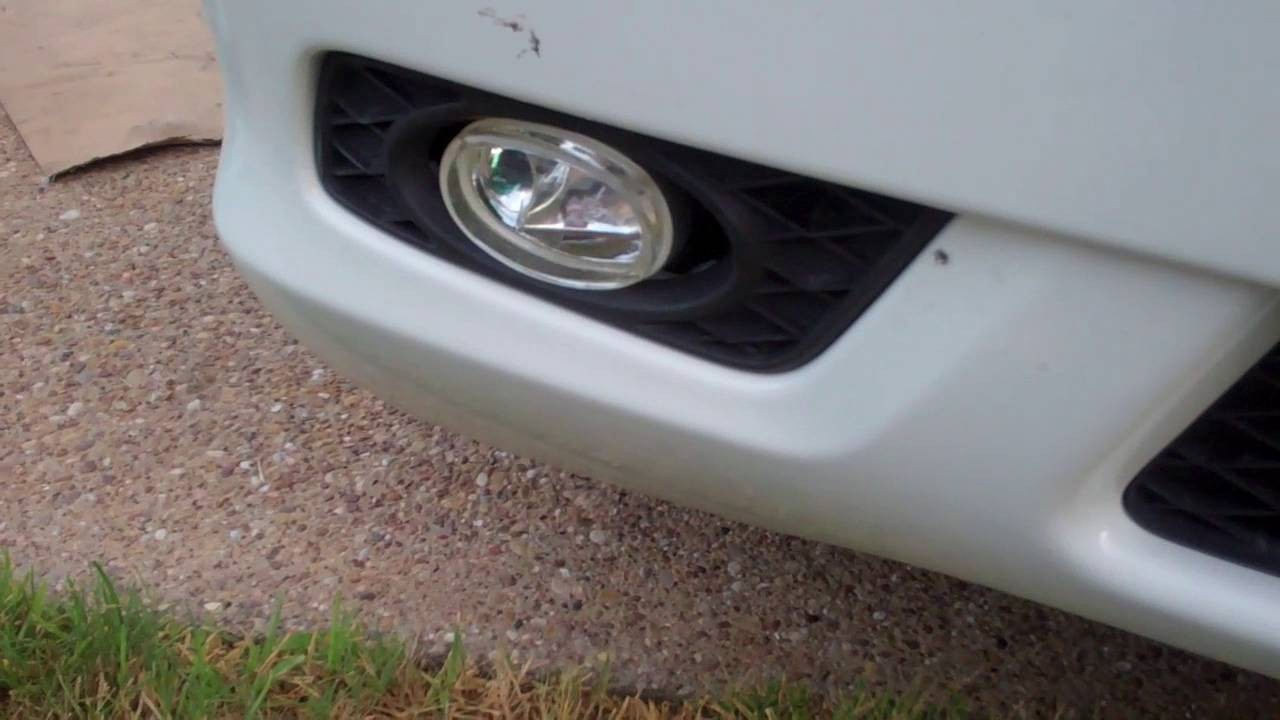 How to remove repair and replace Honda Odyssey foglights without removing bumper cover