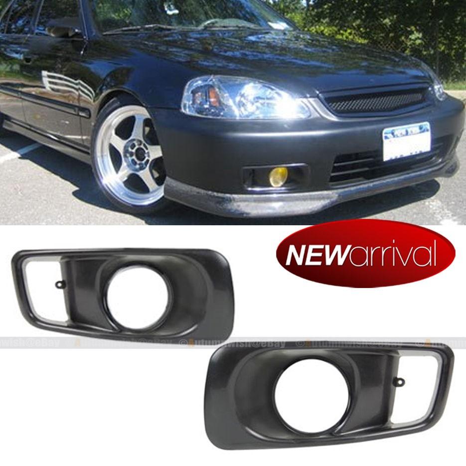 Fit 99 00 1999 2000 Honda Civic EK OE Style Unpainted Fog Light Cover