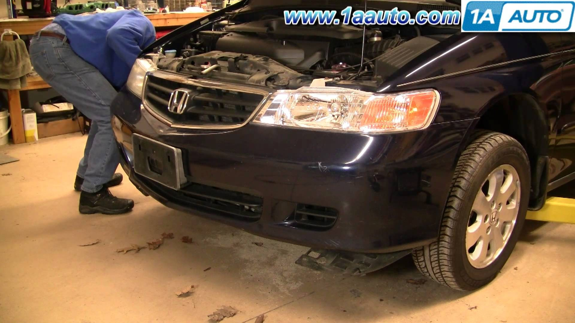 How To Install Remove Replace Front Bumper Cover Honda Odyssey 99 04 1AAuto