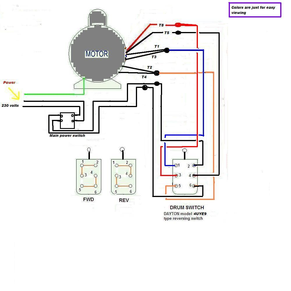 220v Single Phase Wiring Forward Reverse Switch And 220V Diagram