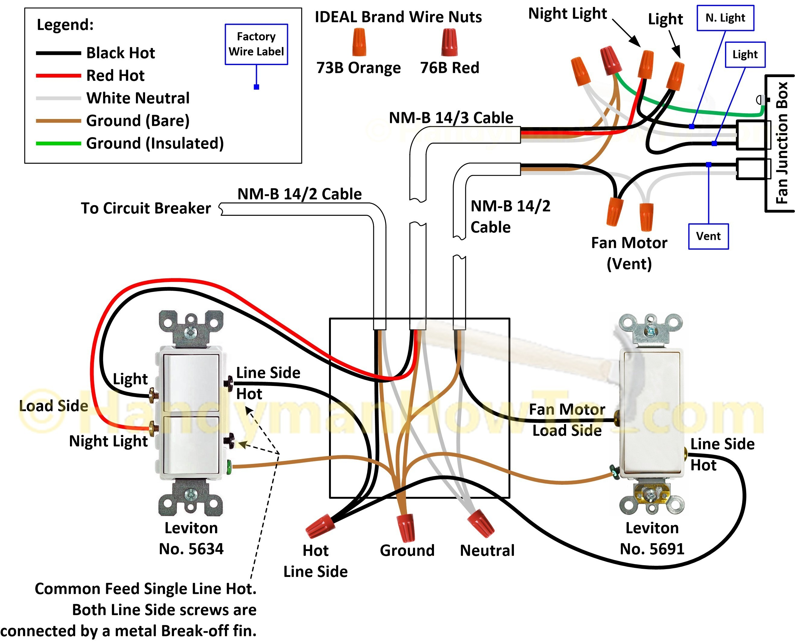 Double Light Switch Wiring Diagram New How To Wire A With Two Within