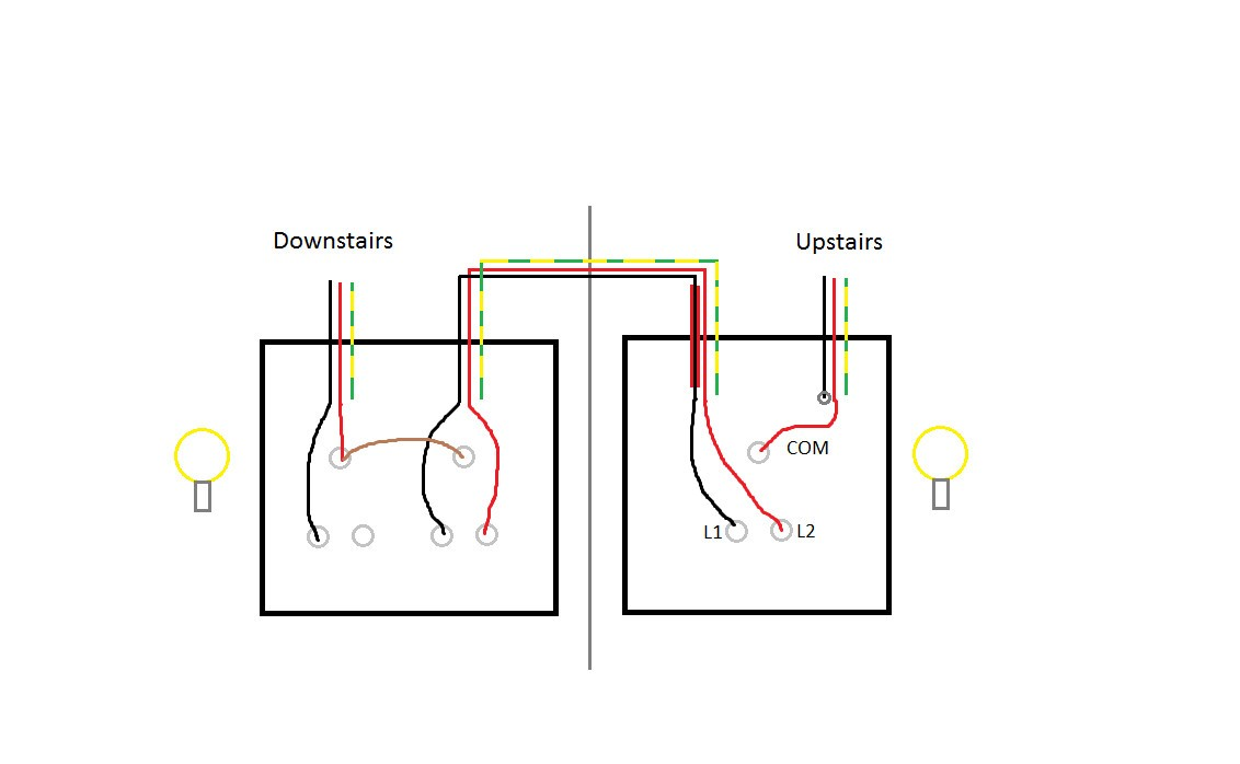 Electrical How Should I Wire This 2 Way Light Switch Home With Inside Wiring Diagram Two