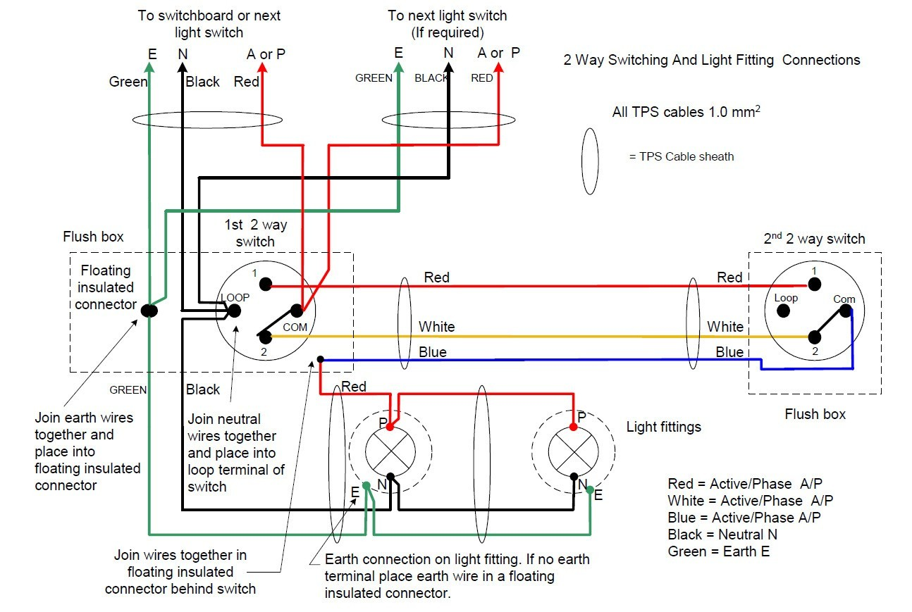 2 Way Switch Wiring Diagram New Wiring Diagrams 2 Way Light Switch Lighting Diagram Inside Two