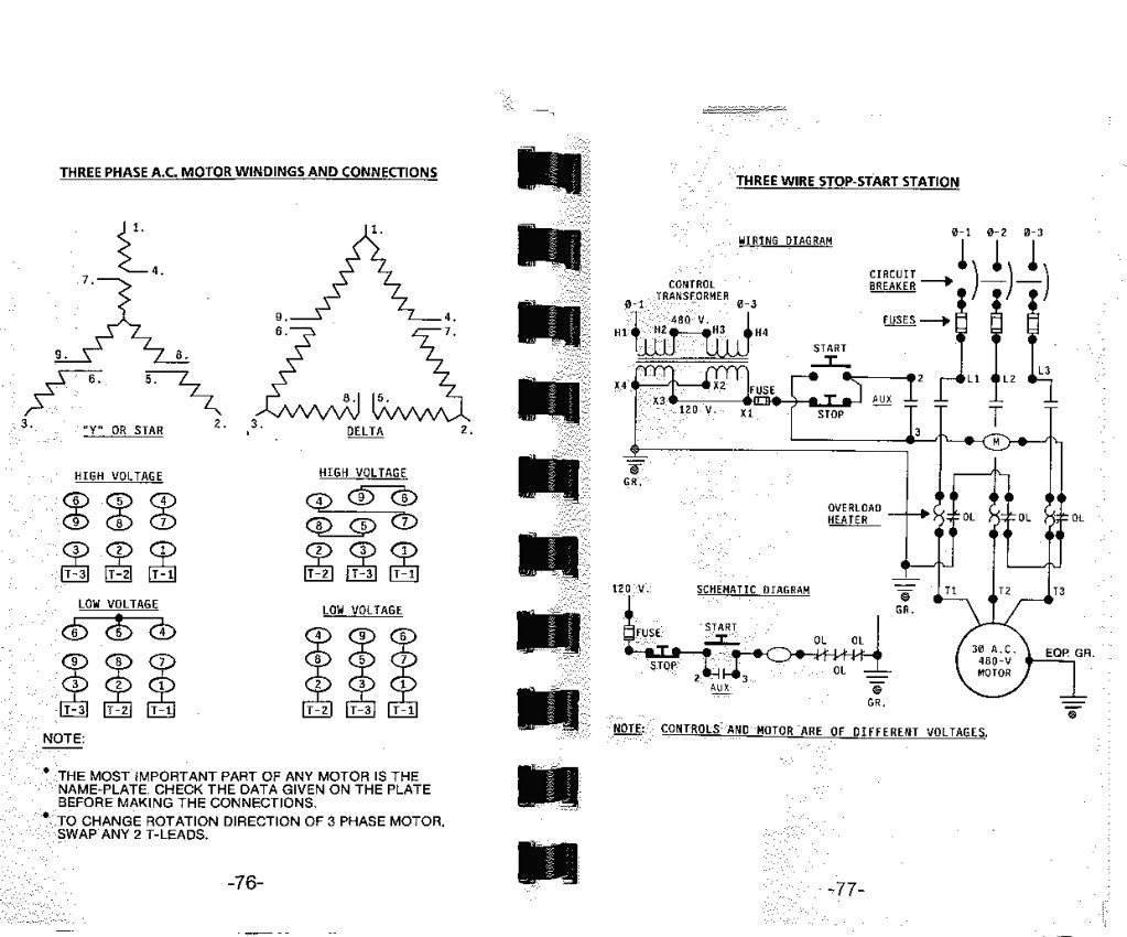 How To Ohm Out A 9 Lead Motor Toshiba Dlp 52hm95 Wiring Diagram 3 Phase Low Voltage Schematics Diagrams