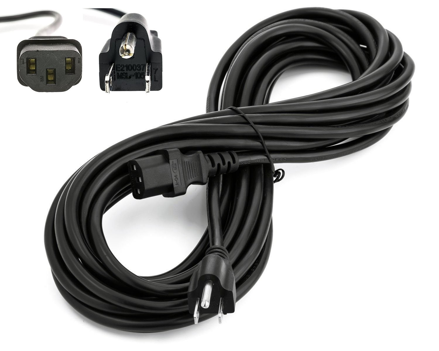 3 Prong Extension Cord Wiring Diagram Image Power Cable Amazon Amamax 25 Feet Extra Long Ac For Vizio Tv Nema