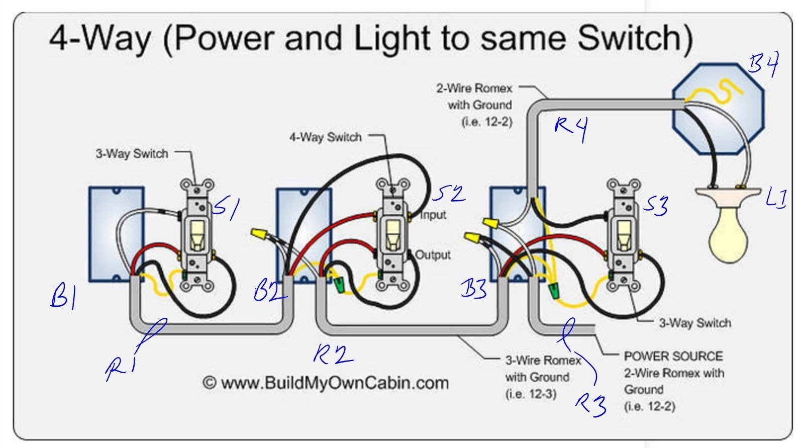 3 Way Light Switch Wiring Diagram Multiple Lights Uk Detailed Gang 4 Fuse Box U2022 2 Switches