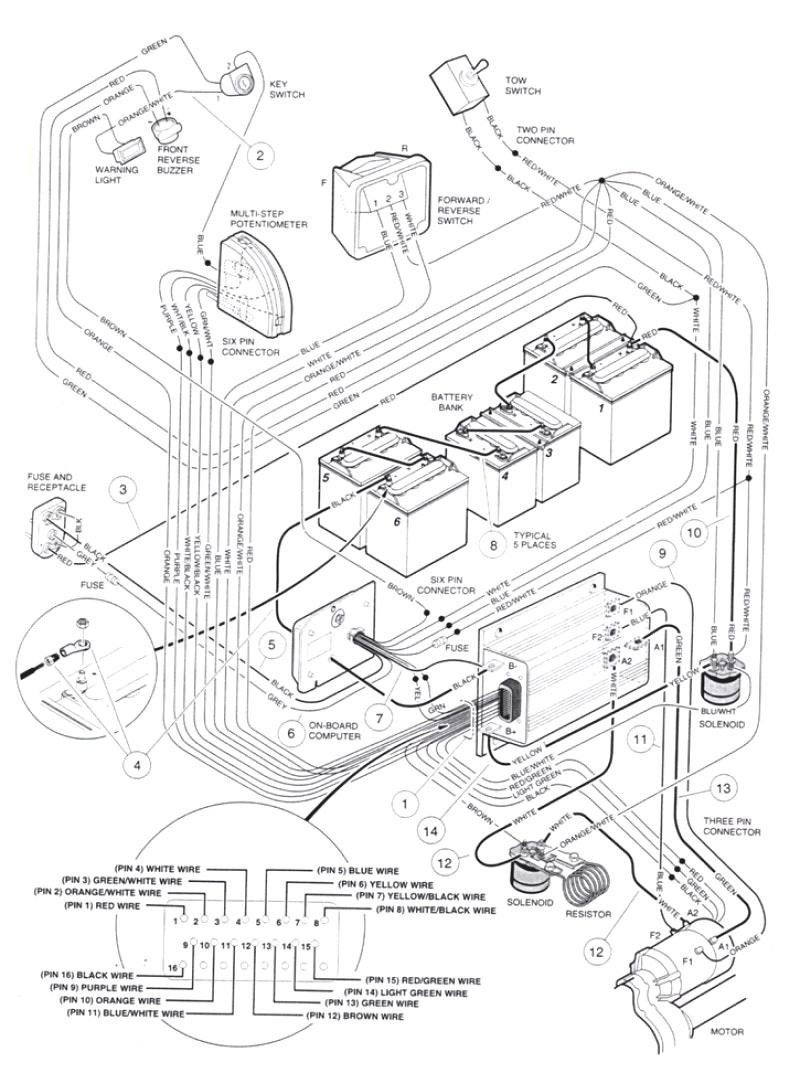 Cart Battery Wiring Diagram Likewise Club Car Charger Wiring Diagram