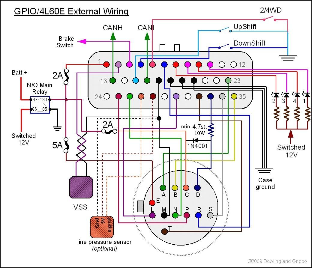 4l60e Transmission Wiring Diagram Unique 4l60e Transmission Wiring Diagram for 4l60e Webtor Me at