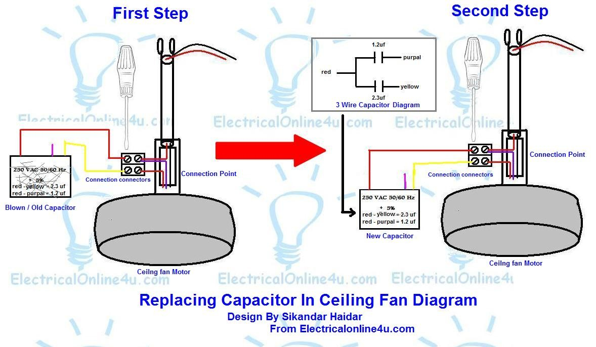 WRG-2833] 5 Wire Ceiling Fan Capacitor Wiring Diagram on