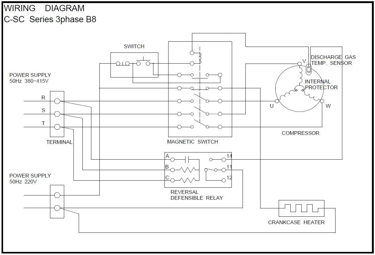 semi hermetic pressor wiring diagram Google Search