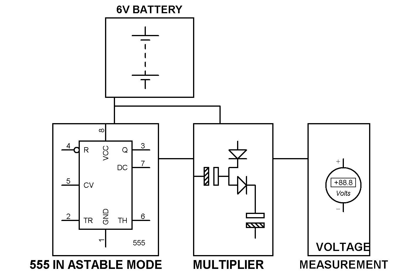 Step Up DC to DC Converter using 555 Timer