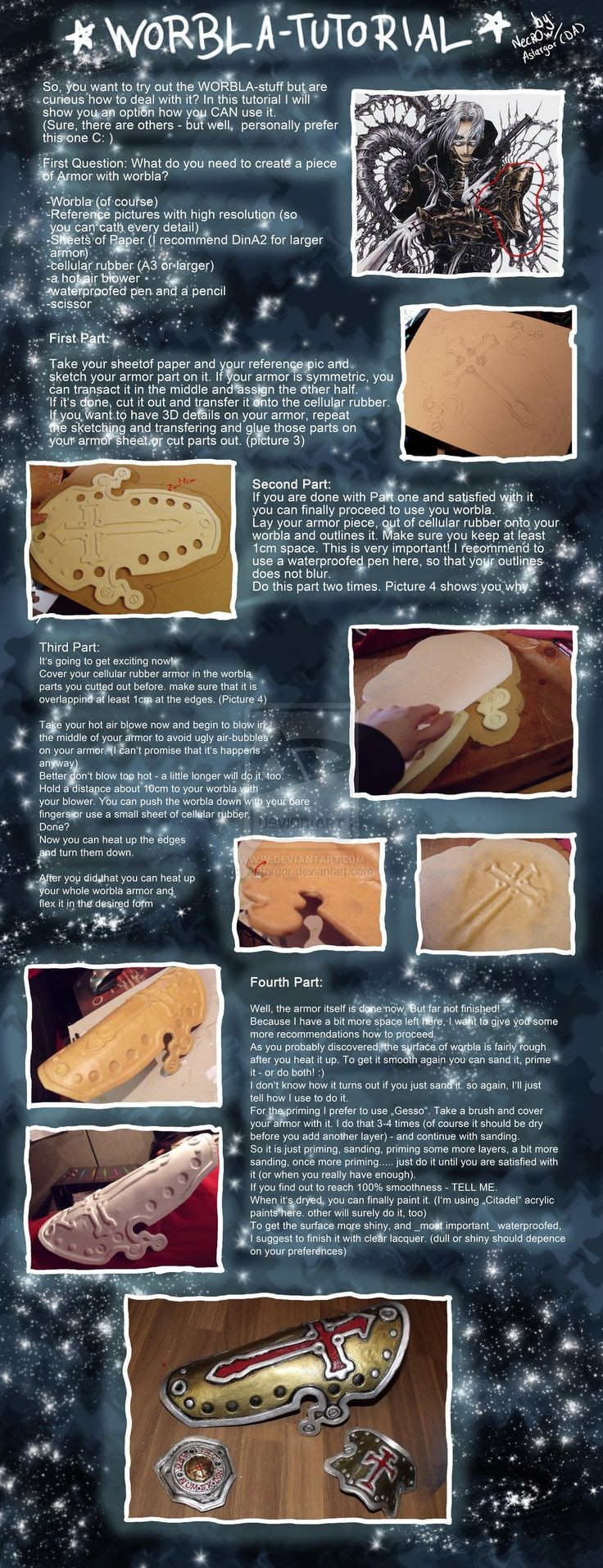Worbla Armor Tutorial by Astargor on deviantART I will never NEVER have enough tutorials