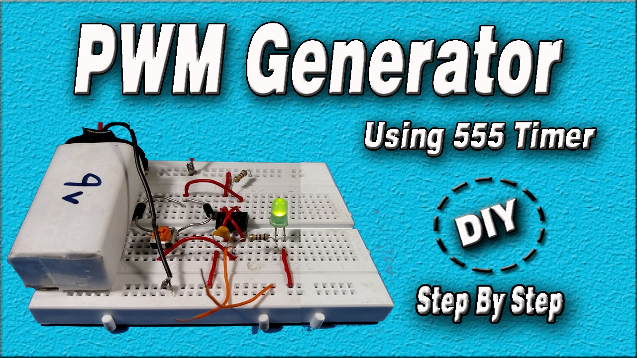 PWM Generator Circuit Using 555 Timer IC Simple Circuit DIY