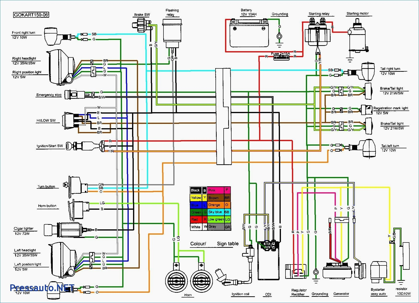 110cc Chinese Atv Wiring Diagram Unique Nice 6 Pin Cdi S Electrical And
