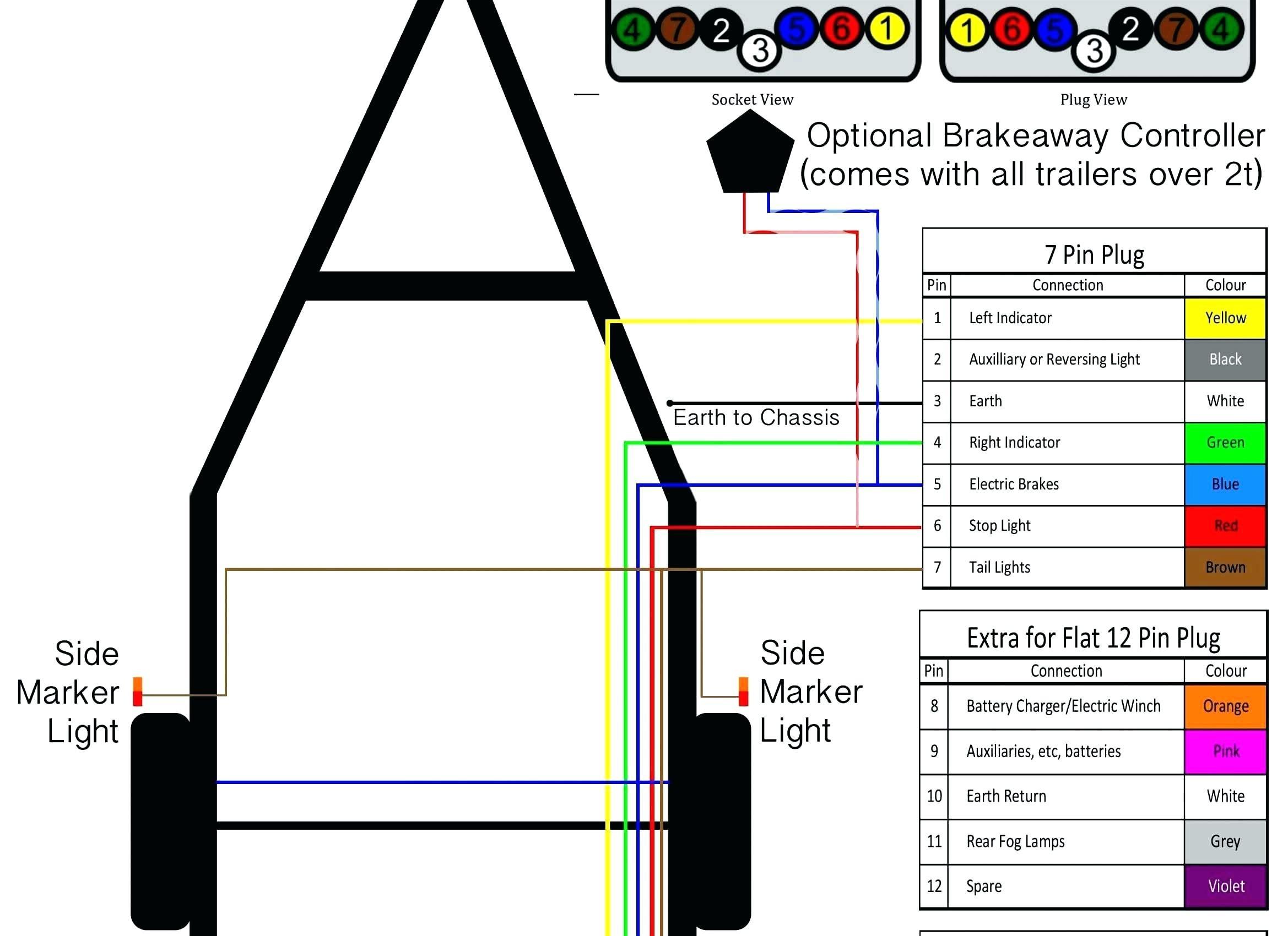 Universal Trailer Wiring Diagram Color Code Fresh 6 Wire Trailer Wiring Diagram Fresh 6 Wire Trailer Plug Wiring