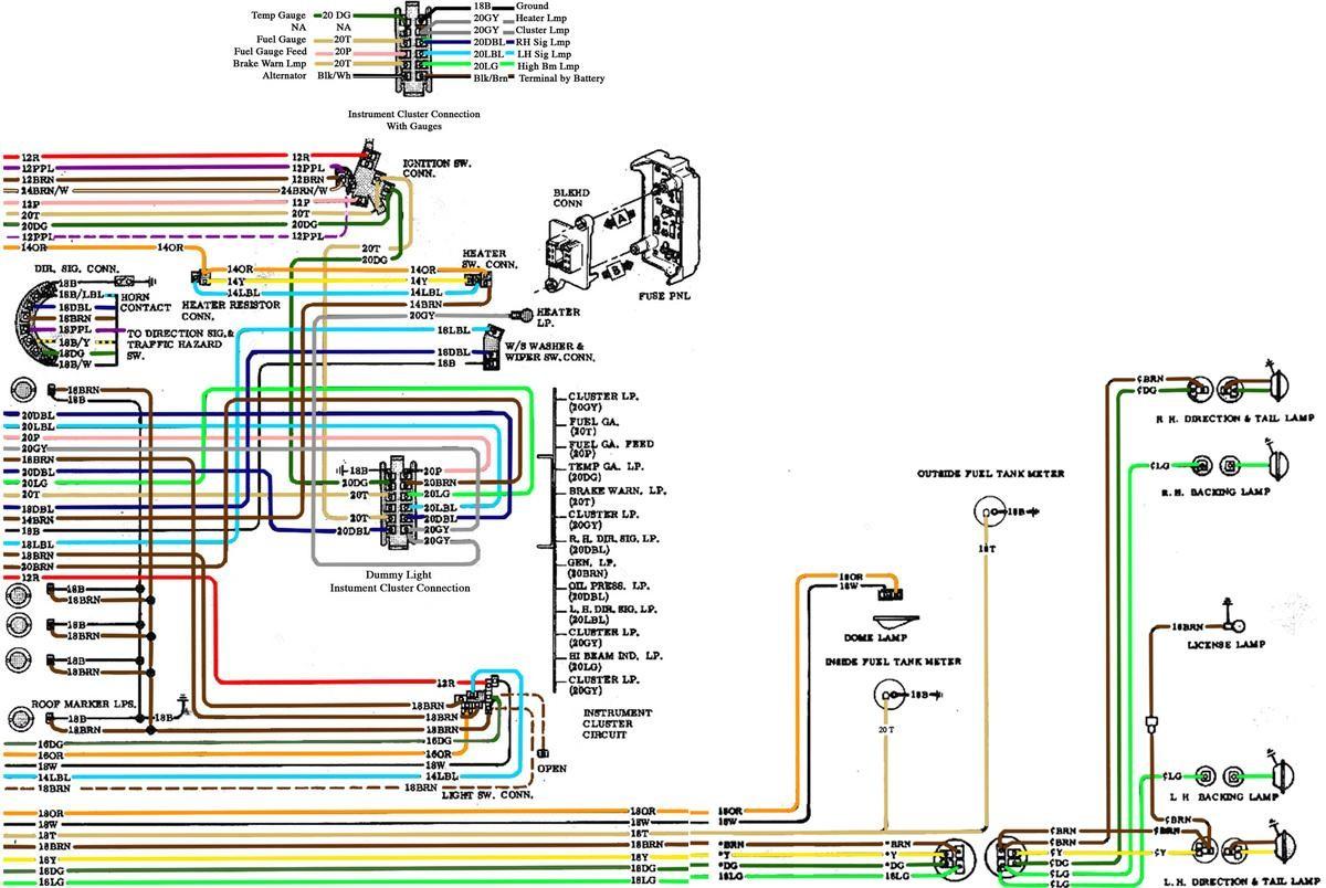 72 chevy truck wiring diagram new wiring diagram image rh mainetreasurechest com wiring diagram 72 chevy truck 1967-72 chevy truck wiring diagram