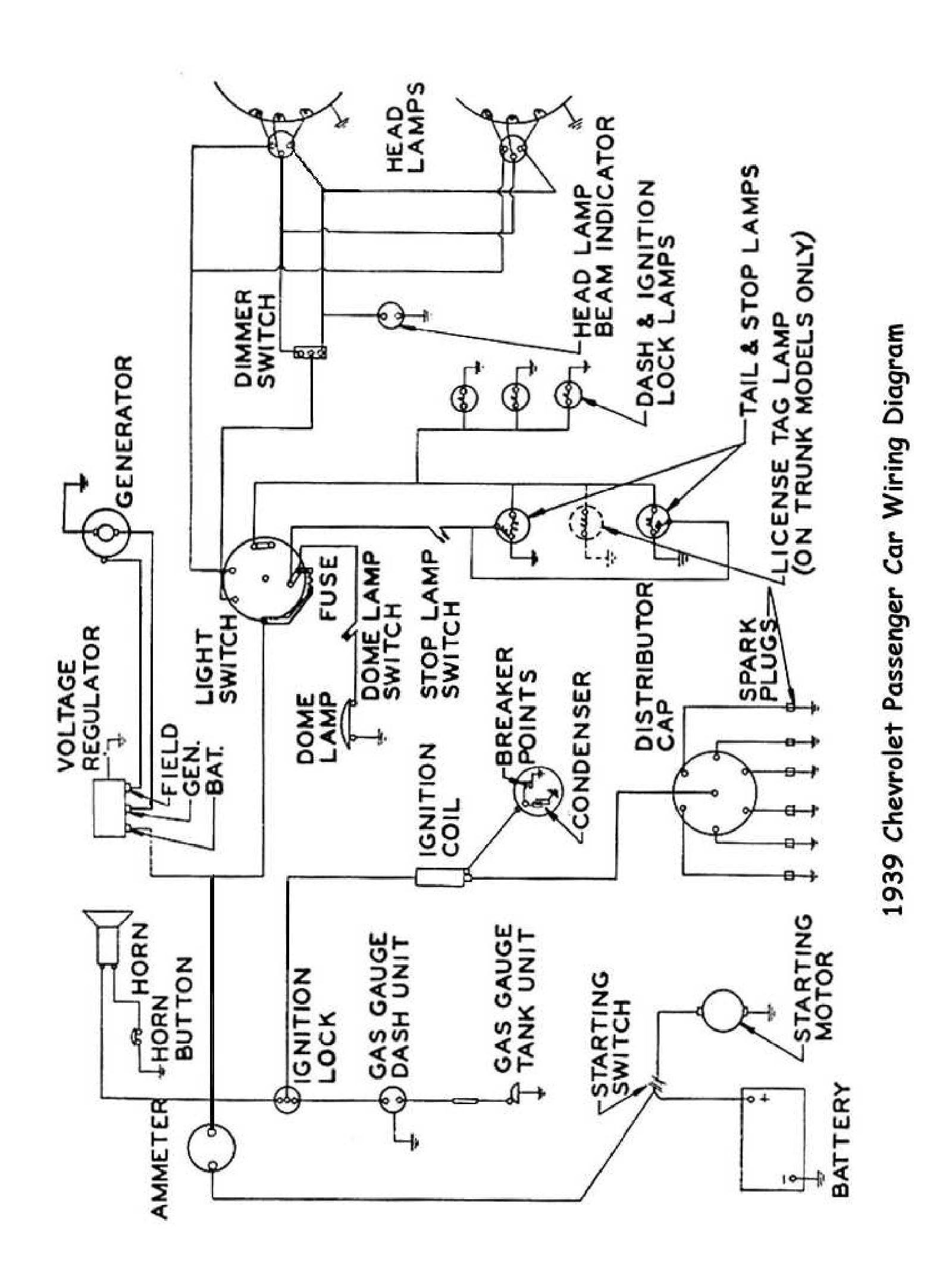 1939 Truck Wiring · 1939 Passenger Car Wiring