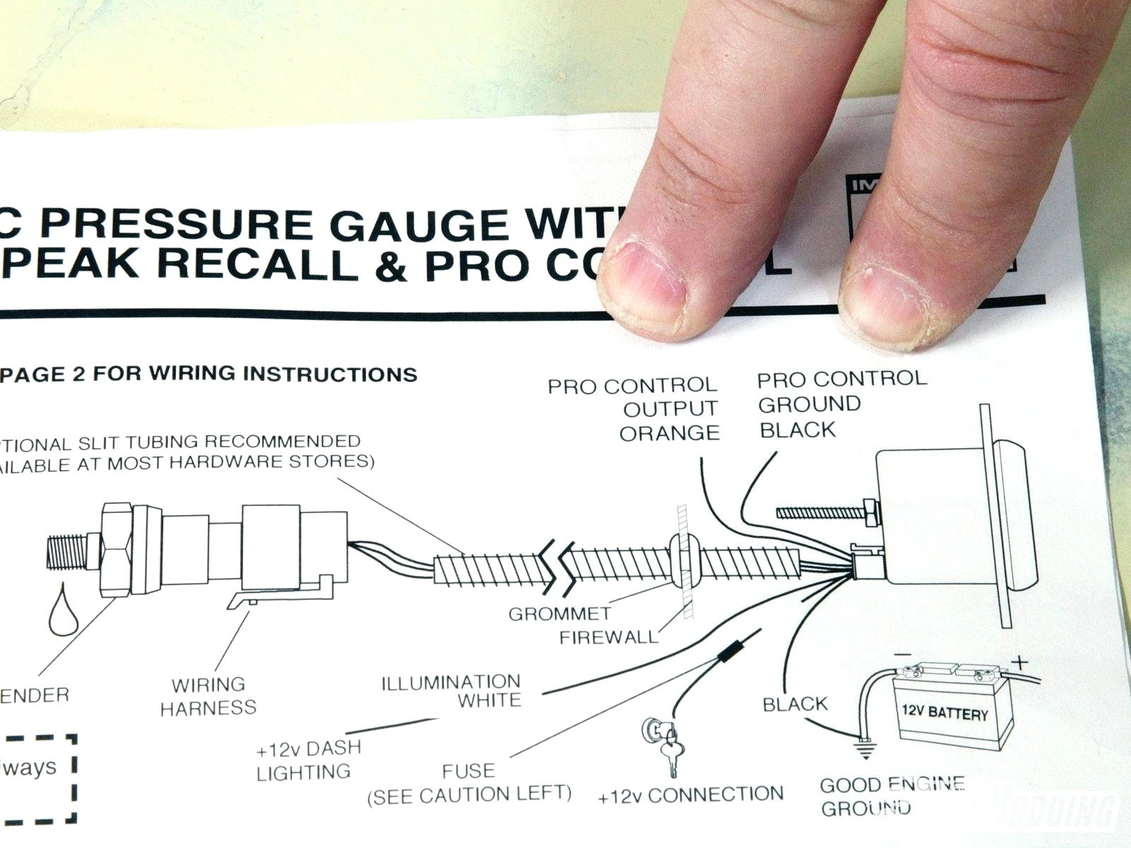 Autometer Oil Pressure Gauge Wiring Diagram Image Electric Wire Diagrams Gallery Electrical And Tach Inspirational Part 6