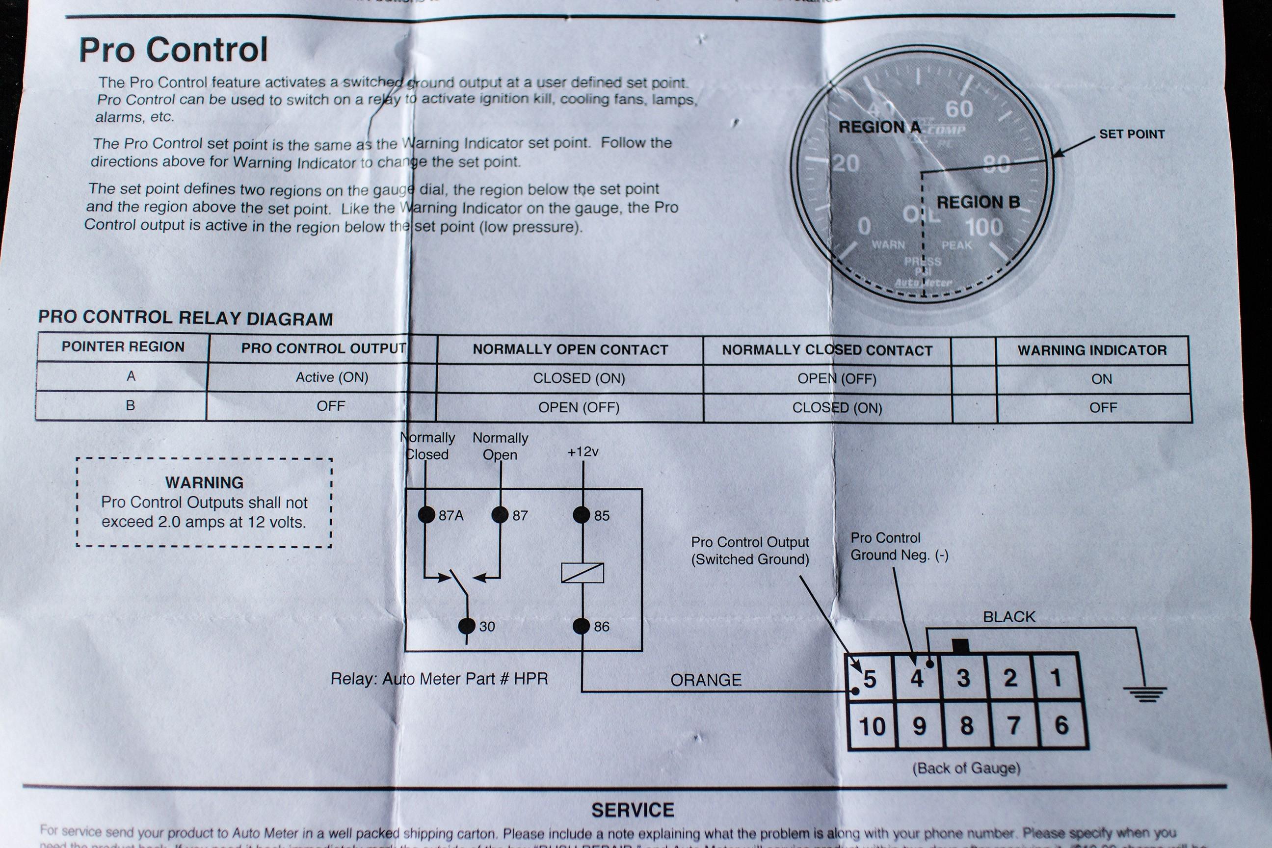 Autometer Oil Pressure Gauge Wiring Diagram Wiring