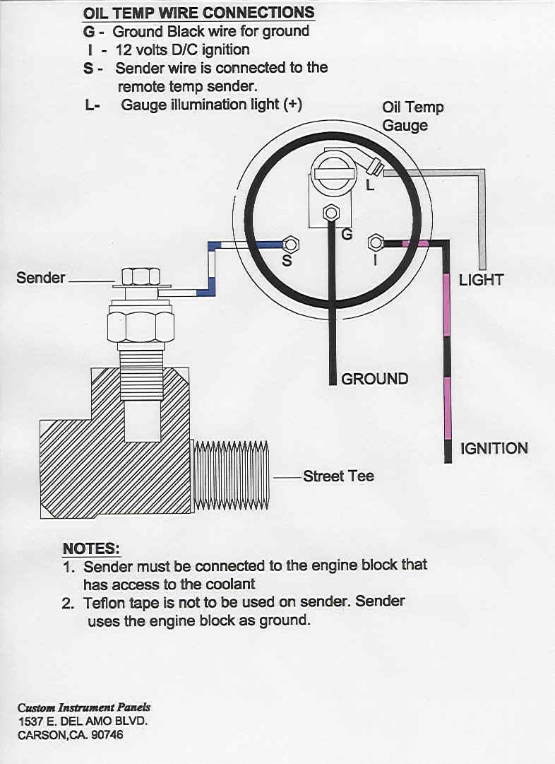 Autometer Oil Pressure Gauge Wiring Diagram | Wiring Diagram Image