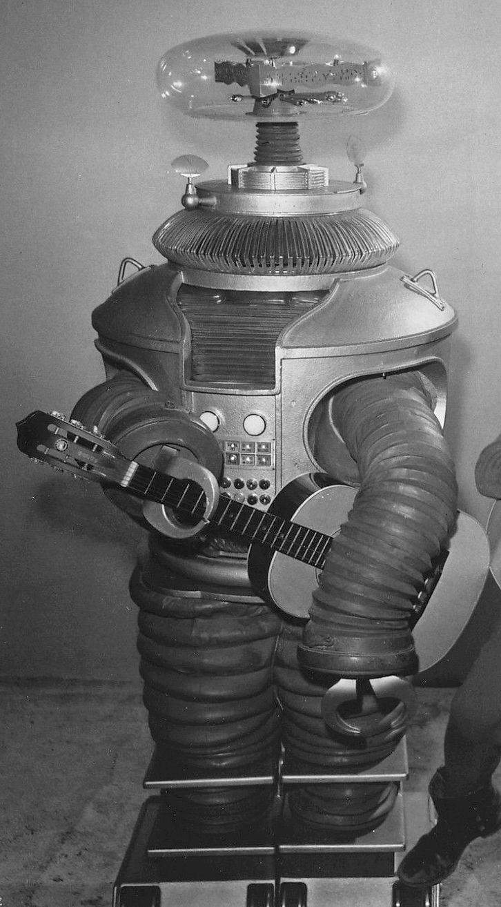 B9 ROBOT from LOST IN SPACE original image cropped