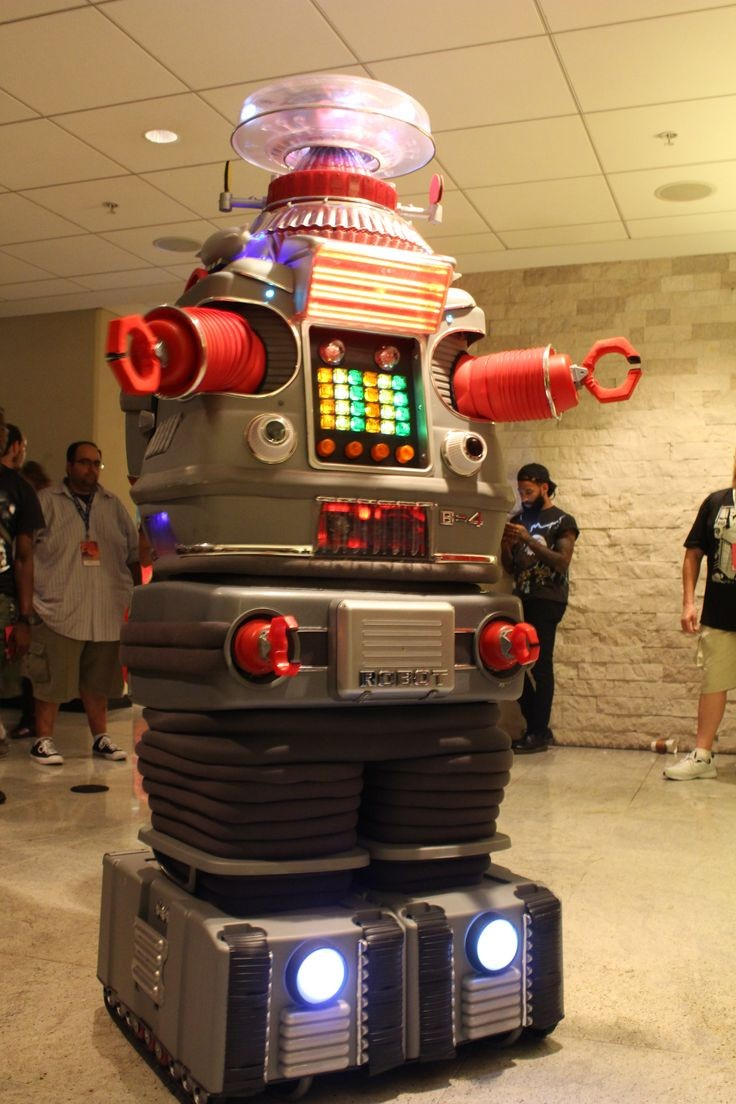 The robot B 9 from Lost in Space and this guy could move and