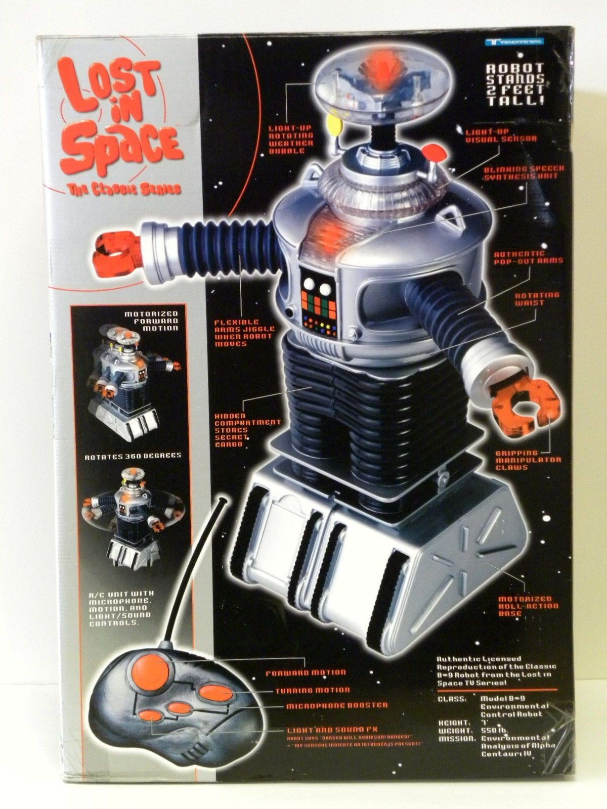 Trendmasters 1998 Lost In Space Radio Remote Control B9 Robot 2 Ft 24 In Tall