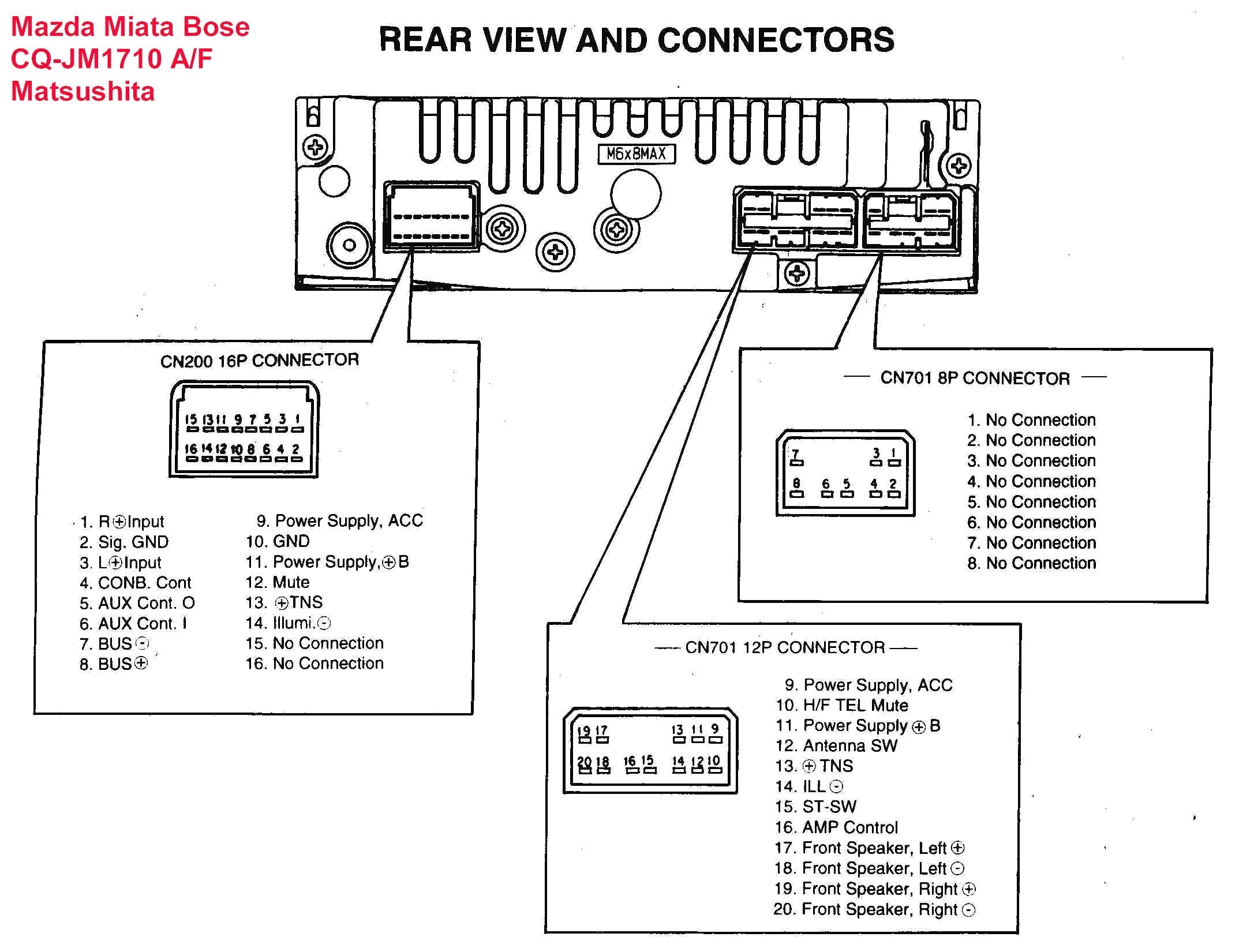 Panasonic Stereo Wiring Diagram Wiring Schematic Database Sony Car Radio Wiring  Diagram Panasonic Car Stereo Wiring
