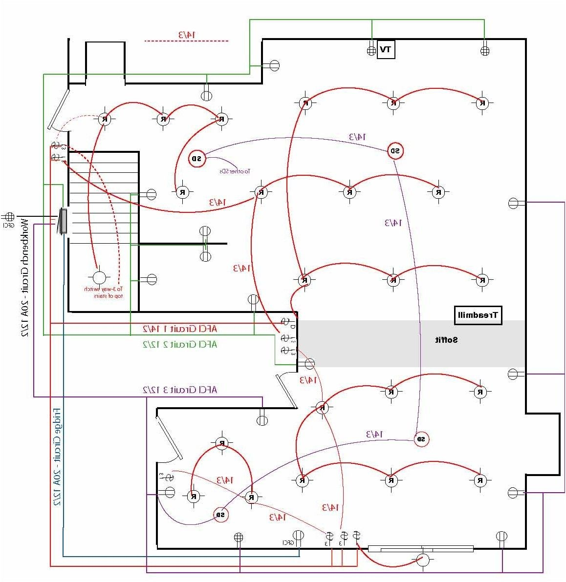 Basement Electrical Wiring Layout Diagram Services House Plans For 60a Rh Florianvl Co Code Home Diagrams