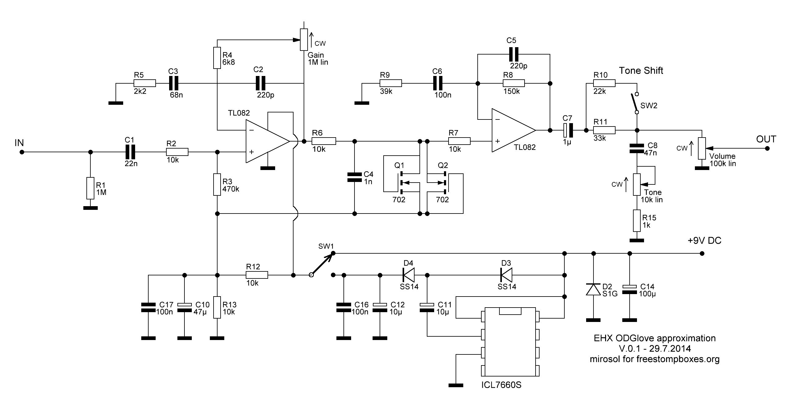 Bass Guitar Wiring Diagram Schematics Fresh Perf And Pcb Effects Layouts Electro Harmonix Od Glove