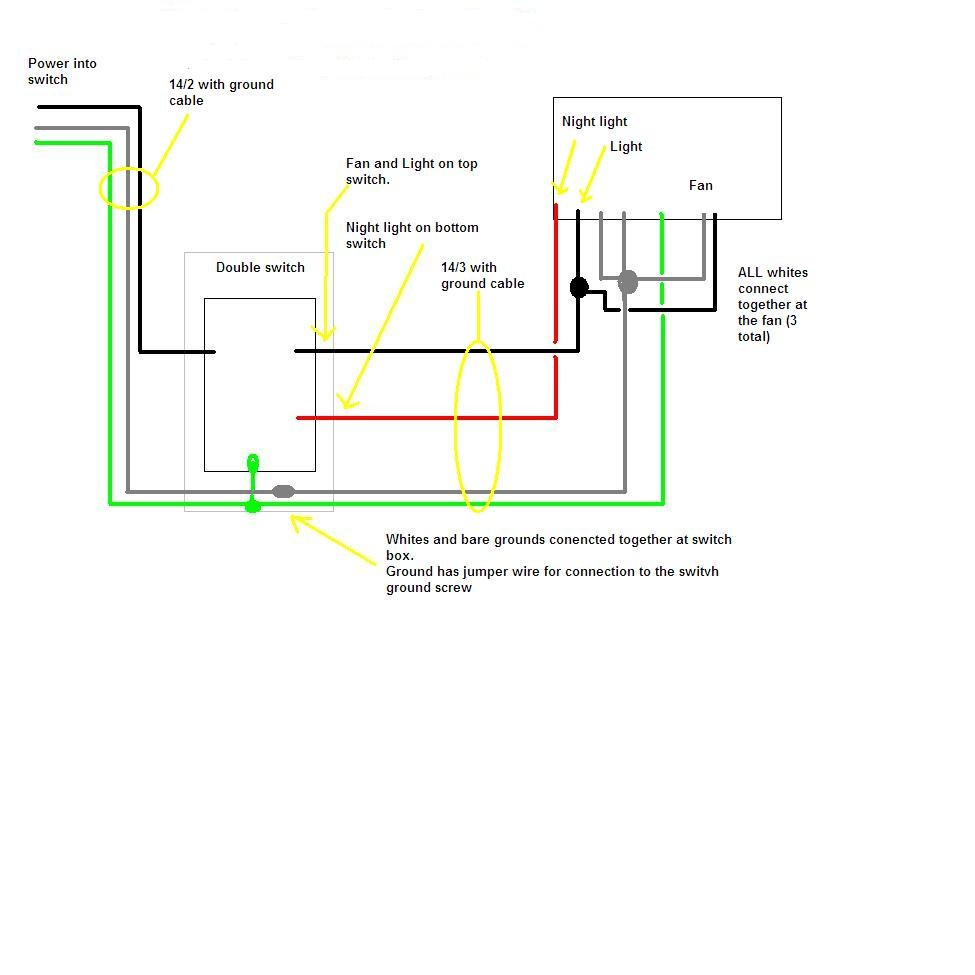 bathroom fan light combo wiring diagram wiring diagram image rh  mainetreasurechest com Wiring Fan and Light Bath and a Light Fan Wiring