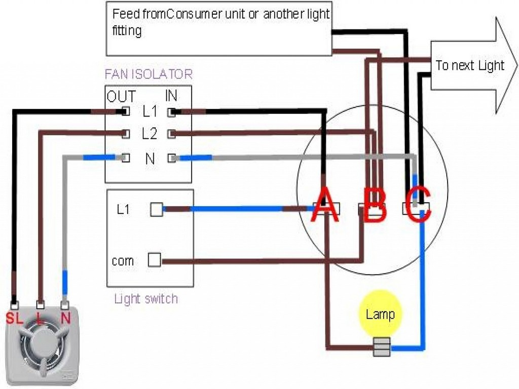 Bathroom Fan Wiring How To Split And Light Into Two Switches Heat 17