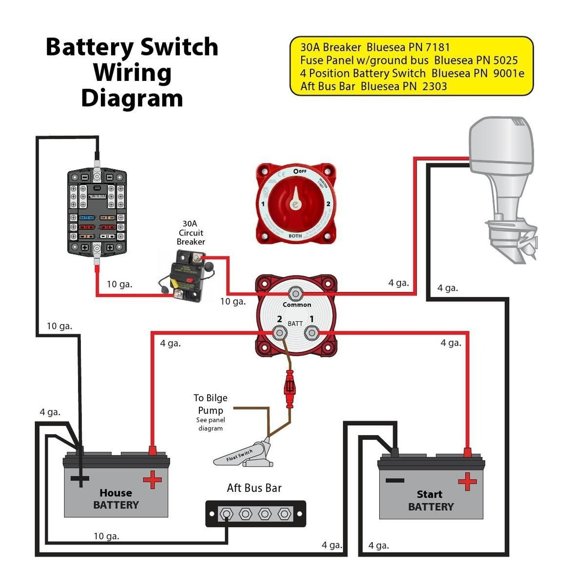 boat battery switch wiring diagram new wiring diagram image rh mainetreasurechest com boat single battery switch wiring diagram perko dual battery switch wiring diagram