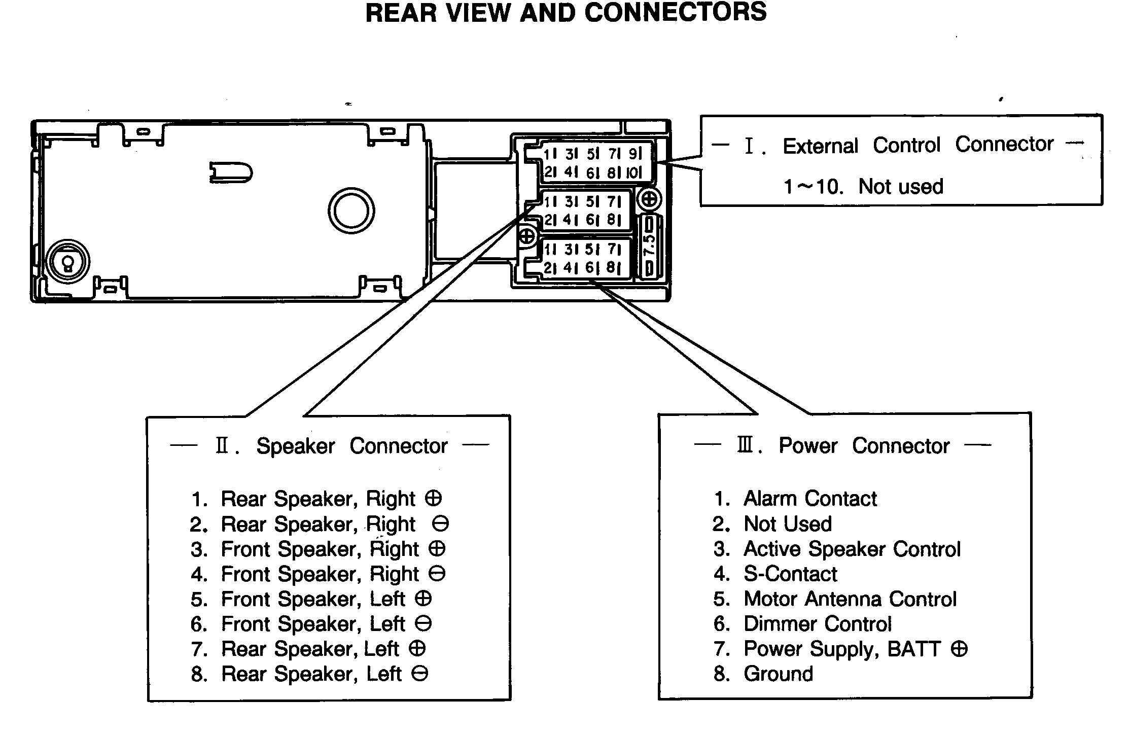 Car stereo wiring diagram newfangled repair wire harness codes bose speaker amplifier