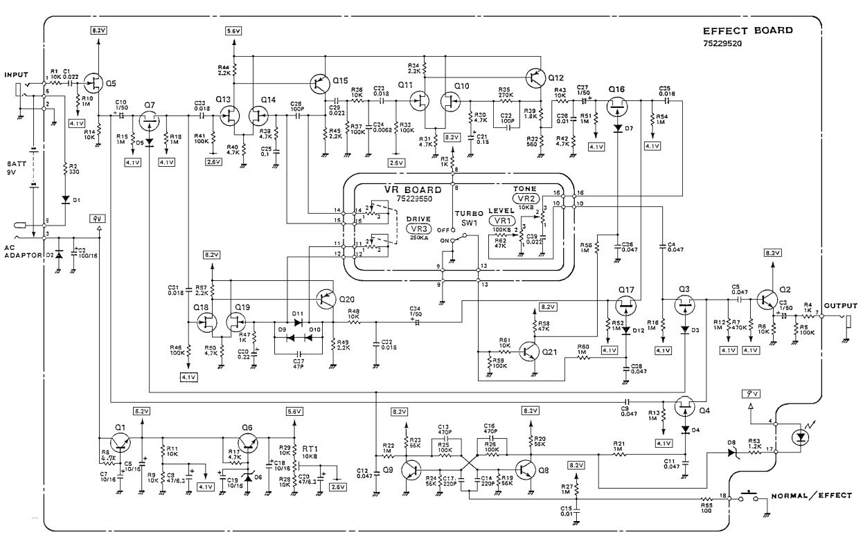 puter Circuit Diagram New Boss Od 2 Turbo Overdrive Guitar Pedal Schematic Diagram