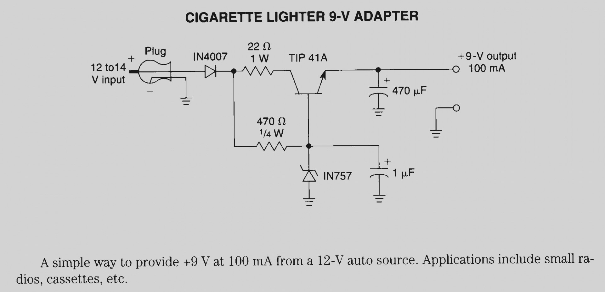 Car Cigarette Lighter Wiring Diagram Chart Gallery