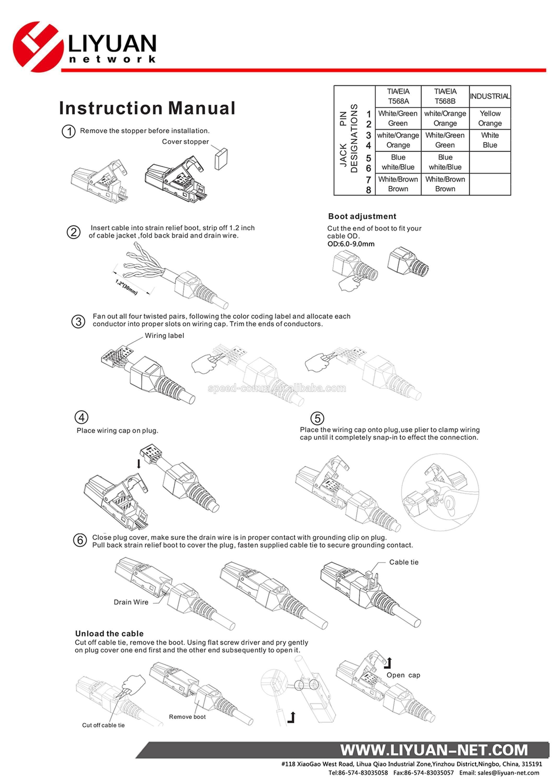 Rj45 Wire Diagram Best Cat 6 Wiring Diagram Rj45 Beautiful Ly Kj6a 17 Cat6 Rj45