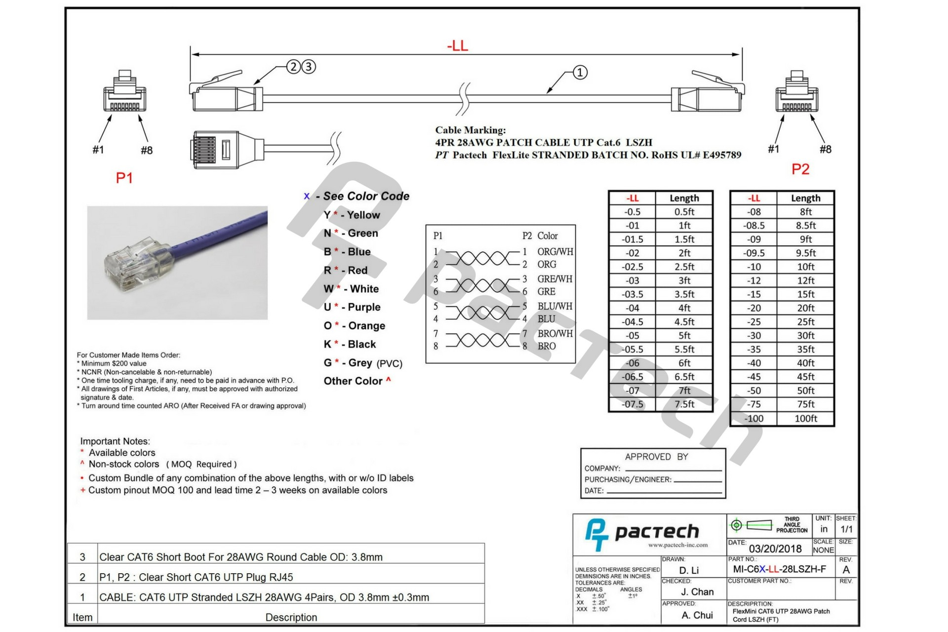 Nice Cat6 Cable Color Code Best for wiring diagram