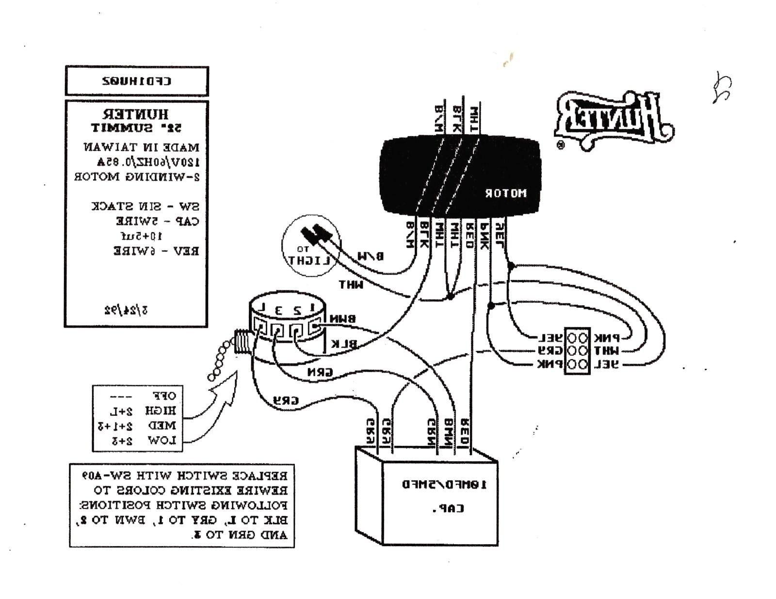 4 Wire Ceiling Fan Switch Wiring Diagram New Wiring Diagram for Ceiling Fan Switch New Hunter