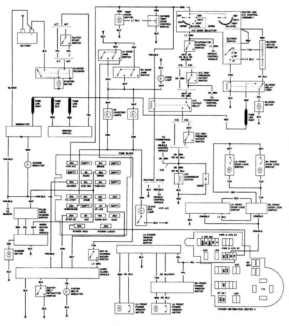 93 s10 fuse diagram wire center u2022 rh flrishfarm co S10 Wiring Diagram PDF wiring diagram for 1991 chevy s10 pickup
