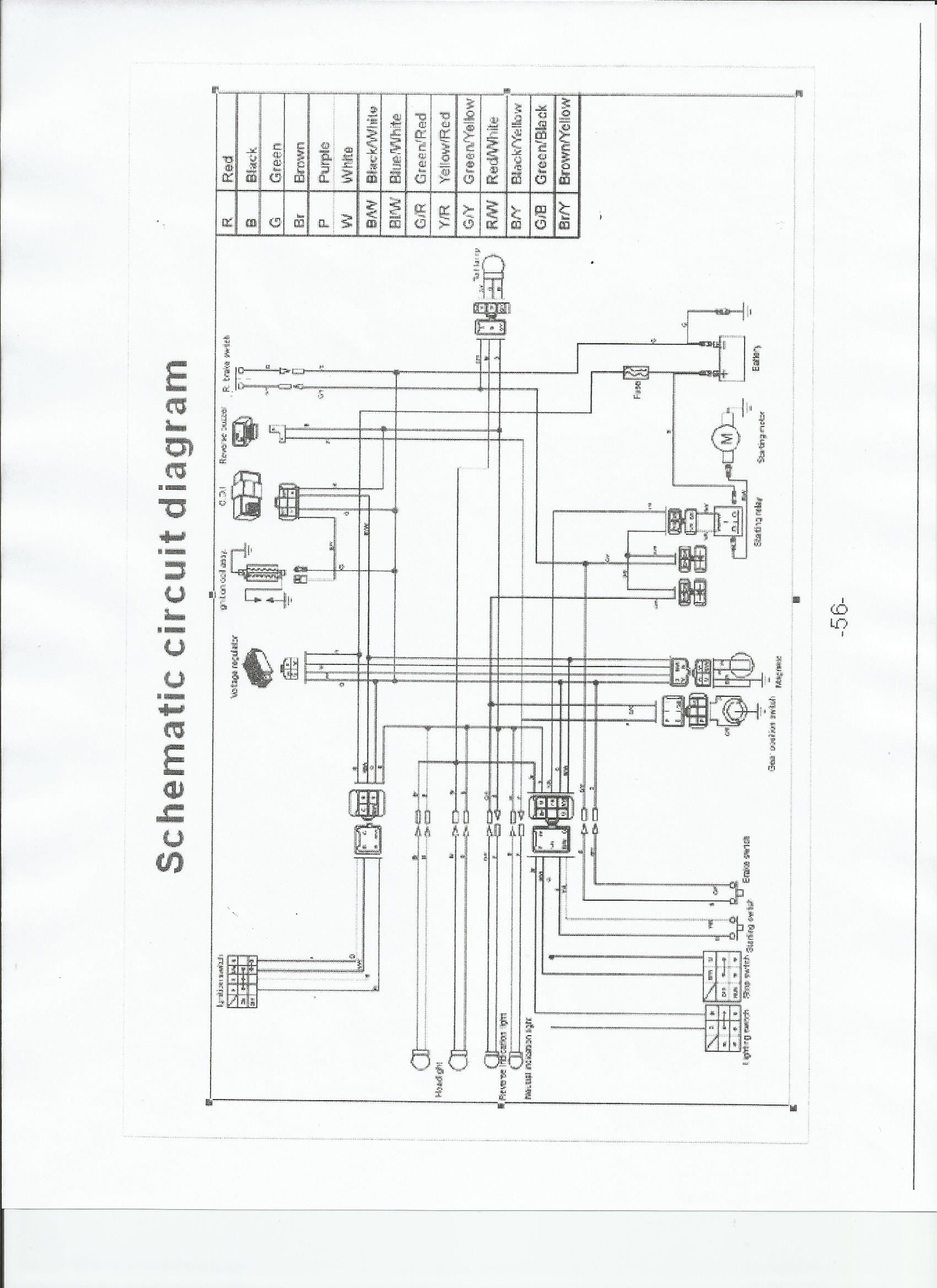 chinese 4 wheeler wiring diagram