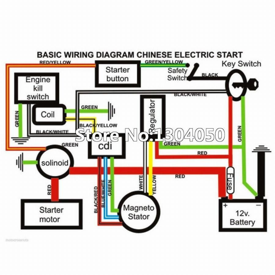 Chinese 125 4 Wheeler Wiring Diagram Atv Cdi Diagrams